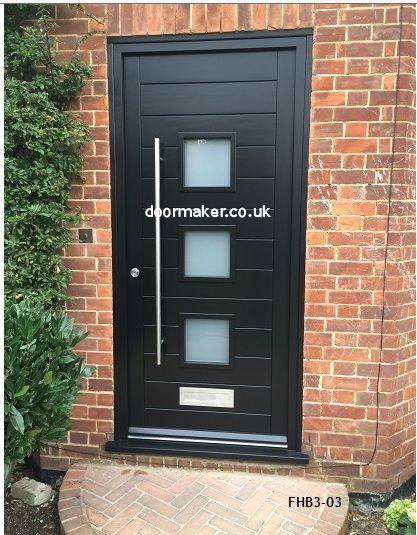 Contemporary 3 pane doors