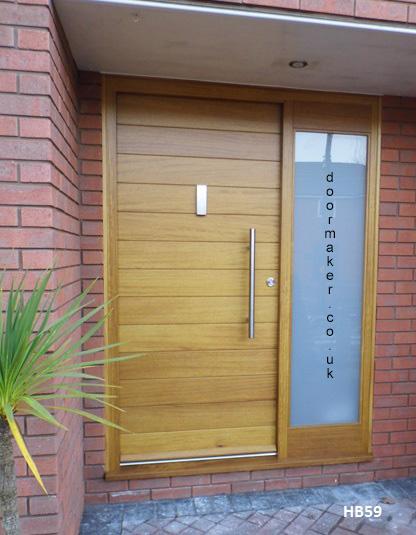 contemporary-iroko-door-hb59 & Iroko Doors - Bespoke Doors and Windows