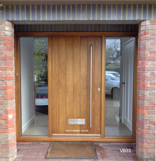Iroko door stained in Medium Oak shade