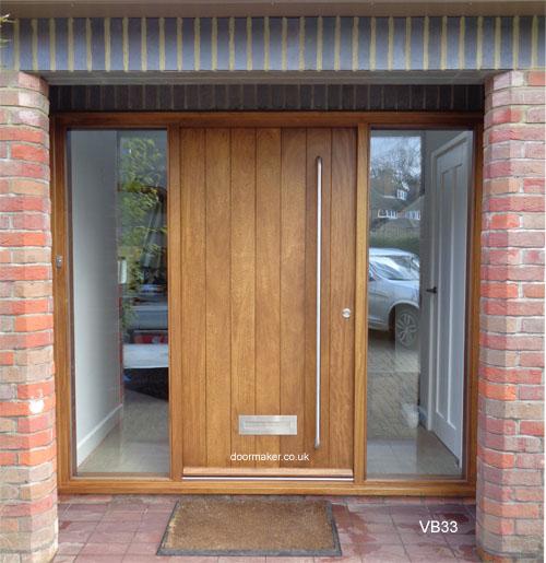 Iroko Door Stained In Medium Oak Shade