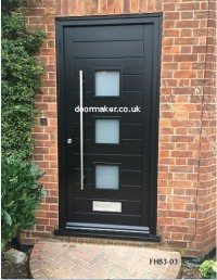 contemporary 3 pane door