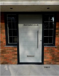contemporary door white