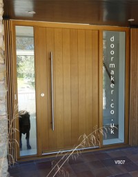 contemporary oak front door