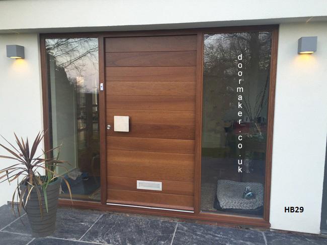 iroko contemporary doorset