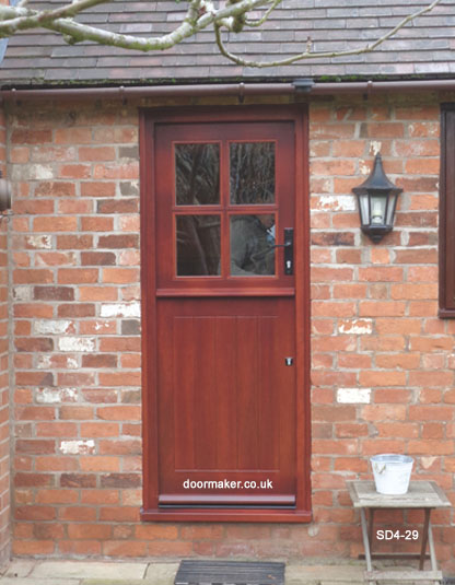 Iroko stable door stained to a mahogany shade - stain ref NE07