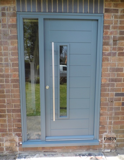 contemporary door blue grey