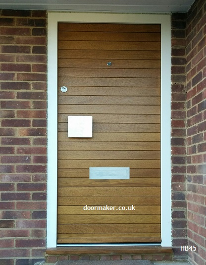 contemporary door iroko narrow boards