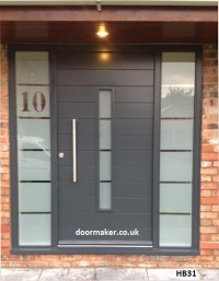 contemporary front door grey