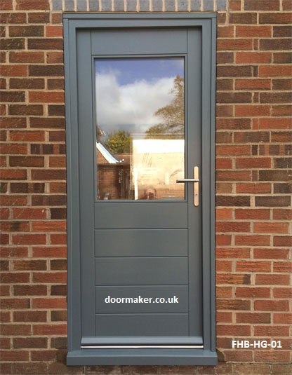 grey contemporary door half glazed