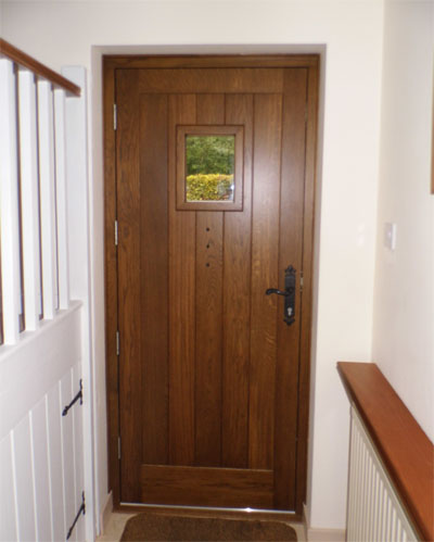 cottage door oak inside view