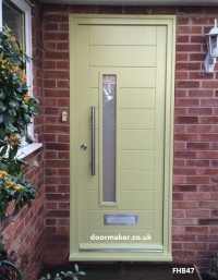 contemporary door churlish green