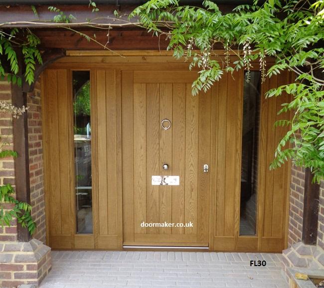 cottage door sidelights fl30 bespoke doors and windows. Black Bedroom Furniture Sets. Home Design Ideas