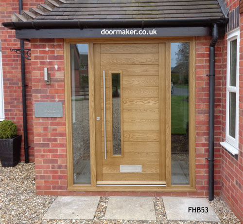 Contemporary door fhb53 bespoke doors and windows for Oak front doors