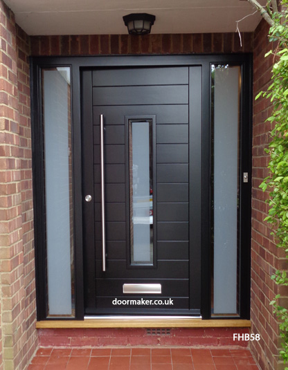 Contemporary black door fhb58 bespoke doors and windows