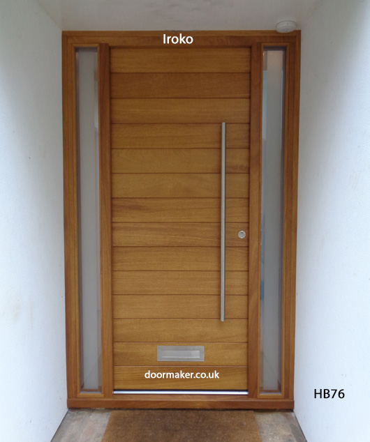 Contemporary iroko door hb76 bespoke doors and windows for 1200mm front door